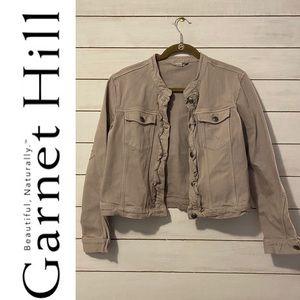 Garnet Hill Ruffled Denim Jacket